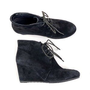 Clarks Rosepoint Dew Suede Bootie Wedge Lace Up 9M
